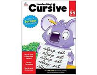 Handwriting Cursive Workbook For Kids Grade 3rd 4th 5th Kindergarten Preschool