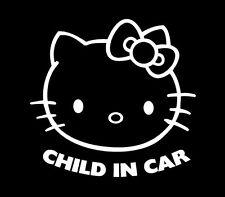 Child on board, baby hello kitty, infant, kid, sticker vinyl decal, car, window