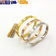 Titanium Steel Screw Bracelets Luxury Love Style Bangles Bracelet w/ Screwdriver
