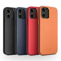 QIALINO Slim Echtes Leder Handy Hülle Back Case Etuis Für iPhone 12 Mini Pro Max