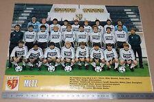 CLIPPING POSTER FOOTBALL 1980-1981 FC METZ LORRAINE SAINT-SYMPHORIEN GRENATS