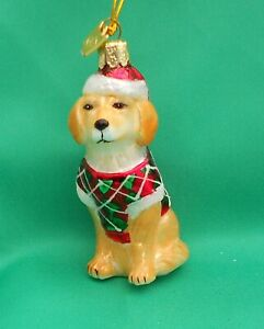 Noble Gems Glass Christmas Tree Decoration Dog - coat Golden Retriever