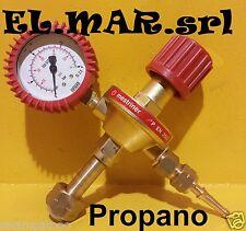 Riduttore di pressione PROPANO in ottone con manometro gas compresso
