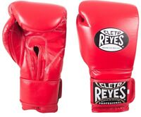 Cleto Reyes Hook and Loop Leather Training Boxing Gloves - Red