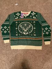 Jagermeister Sweater Ugly Christmas Jager L Large Green Booze Liquor