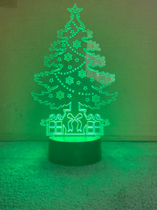 LED Christmas Tree Lamp Night Light 7 Colours