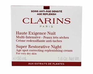 Clarins Super Restorative Night Cream For Very Dry Skin 1.6 Ounces