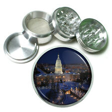 "Washington D.C. D2 Aluminum Herb Grinder 2.5"" 63mm 4 Piece Landmarks"