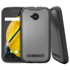 Poetic Affinity Protective Hybrid Case for Motorola Moto E 2nd Gen Clear/Black