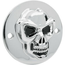 Chrome 3D Skull Points Cover For Harley-Davidson Big Twin 1970-99