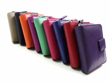 Leather Trifold Purses & Wallets for Women with Photo Holder