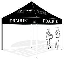 10X10 Custom LOGO Printed  Outdoor Trade Show Pop Up Canopy Patio Shade Tent