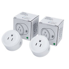 2 Pack Smart Power Socket Wifi Wireless Mini Switch Remote Control Timer US Plug
