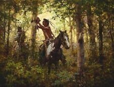 Howard Terpning OFFERINGS TO SUN Textured Canvas ARTIST PROOF A/P#19/30
