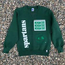 -VTG 90s USA Made Russell Athletic Michigan State Spartans MSU Sweat Shirt S