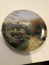 knowles collector plates Thomas Kinkade's Open Gate Cottage 1991 Plate #8590A