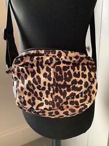 GANNI Leopard Print Polyester Festival Crossbody Bag
