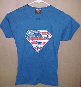Superman American Flag Syle:  Baby Doll T-Shirt  New