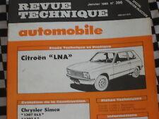 revue technique CITROEN LNA 4CV 2 CYLINDRES  / français