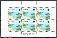 Jersey 3 blaadjes uit Pb - 3 panes 466-470-475 from  booklet feb 1991 MNH