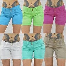 Damen SeXy Shorts kurze Hose Jeans Damenhose Hüft Stretch Pants Bund Gr.34-44 S1
