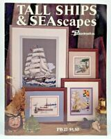 1989 Puckerbrush Counted CrossStitch Pattern Booklet Tall Ships & Seascapes 8454