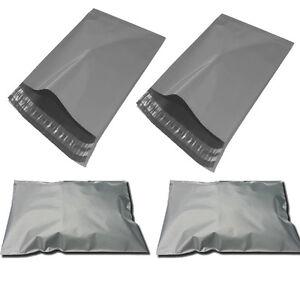 "50 x GREY Postal Mailing Bags 250 x 350mm - 10 x 14"""