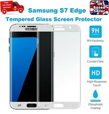 Curved Shatter Proof Tempered Glass Screen Protector For Samsung S7 Edge WHITE