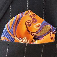 Hankie Pocket Square Handkerchief Charcoal Bronze /& Dark Grey Fragments