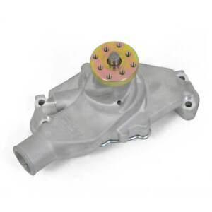 Weiand Action Plus Mechanical WATER PUMP Short 9208 Satin Aluminum SBC Chevy NEW