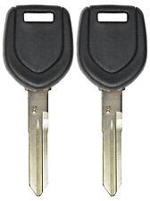 2 New Master Transponder Chip Ignition Door Key Uncut Blank For Mitsubishi MIT16