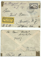 GERMANY 1928 ZEPPELIN COVER LZ127 4 MARK TO BROOKLYN USA