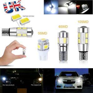 5630 5050 T10 Car Bulb LED Error Free 5/6/10 SMD Xenon White W5W 501 Side Light