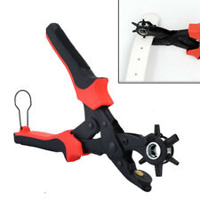 """10"""" Power New Belt Puncher Pliers Assist Revolving Leather Punch Eyelet Plastic"""