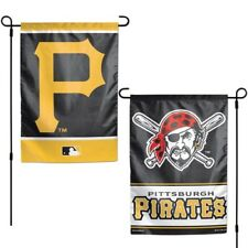 """Pittsburgh Pirates Double Sided 12""""X18"""" Garden Flag Banner New"""