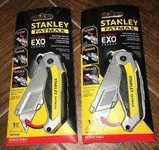 2-PACK STANLEY FMHT10289 FATMAX FOLDING EXO QuickChange Retracable Utility Knife