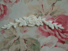 Shabby & Chic *Rose with Leaves Swag Applique* Furniture Applique Onlay