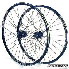 "Alex XCR100d 26"" Wheel set Formula 6-Bolt Disc QR Hubs Black Spokes 8,9,10 spd"