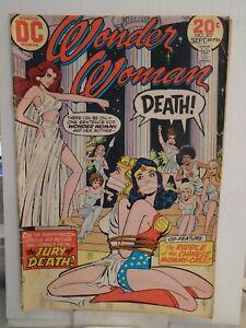 DC WONDER WOMAN #207 (1973) Bondage Cover, Jury of Death, Ric Estrada