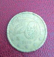 50 CENT EURO ESPANA CERVANTES 2000
