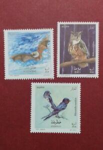 Algeria 2020 Birds Owl Swallow Bat mnh set yvert 1861 63
