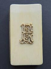 Antique Lorgnon Brille Etui hochwertiges Bein Adel nobless monogram um 1900