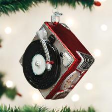 OLD WORLD CHRISTMAS RECORD PLAYER PHONOGRAPH MUSIC CHRISTMAS ORNAMENT 38043