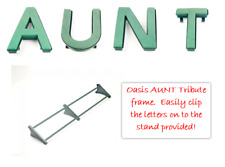 AUNT Funeral Flowers Oasis Frame and Letters Tribute Naylorbase with Stand