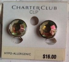 CHARTER CLUB HYPO-ALLERGENIC CLIP STYLE AB EARRINGS -NEW