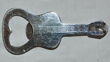 Vintage White Metal Guitar Shape Bottle Opener