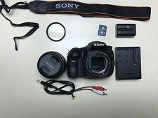 Sony Alpha SLT-A58 DSLR Camera - Black(Kit w/ DT SAM II 18-55) Working Condition