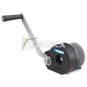 Argano manuale con freno FERVI 0590 verricello manuale meccanico 450Kg
