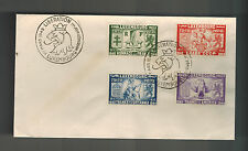 1945 Luxembourg First Day Cover  Liberation From Germany # B117-B120  FDC