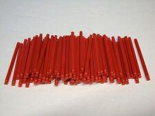 """100 MICRO KNEX RED 2.4"""" RODS Mini K'nex Parts / Pieces Lot"""